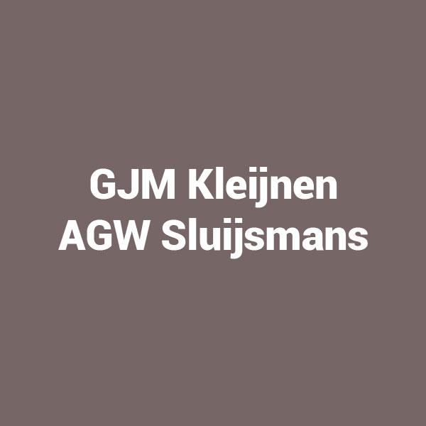 GJM Kleijnen AGW Sluijsmans