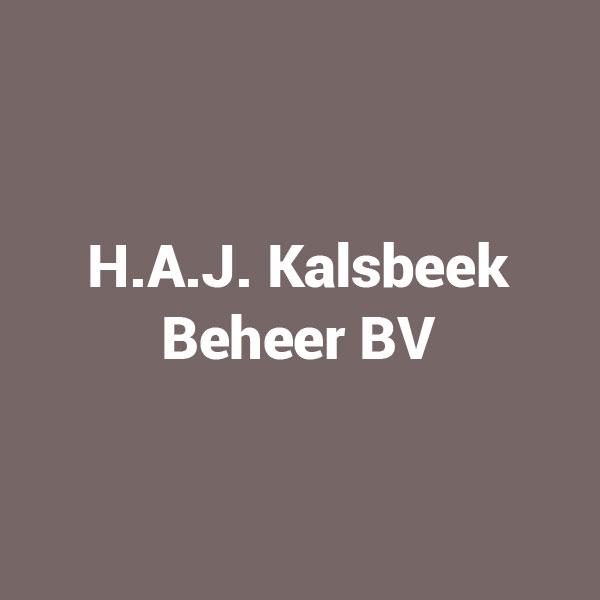 H.A.J. Kalsbeek Beheer BV