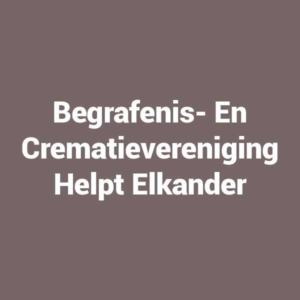 Begrafenis- En Crematievereniging Helpt Elkander